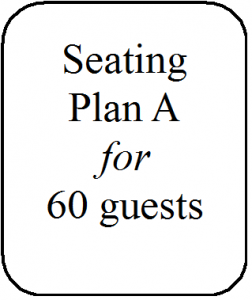 Seating Plan A 60 guests