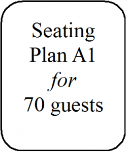Seating Plan A1 70 guests