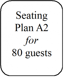 Seating Plan A2 80 guests
