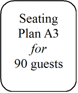 Seating Plan A3 90 guests