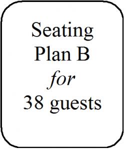 Seating Plan B 38 guests