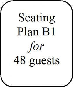 Seating Plan B1 48 guests