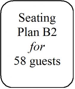 Seating Plan B2 58 guests