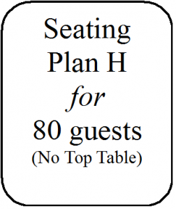 Seating Plan H 80 guests