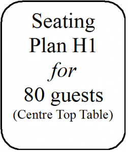 Seating Plan H1 80 guests