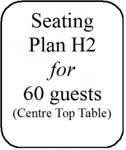 Seating Plan H2 60 guests